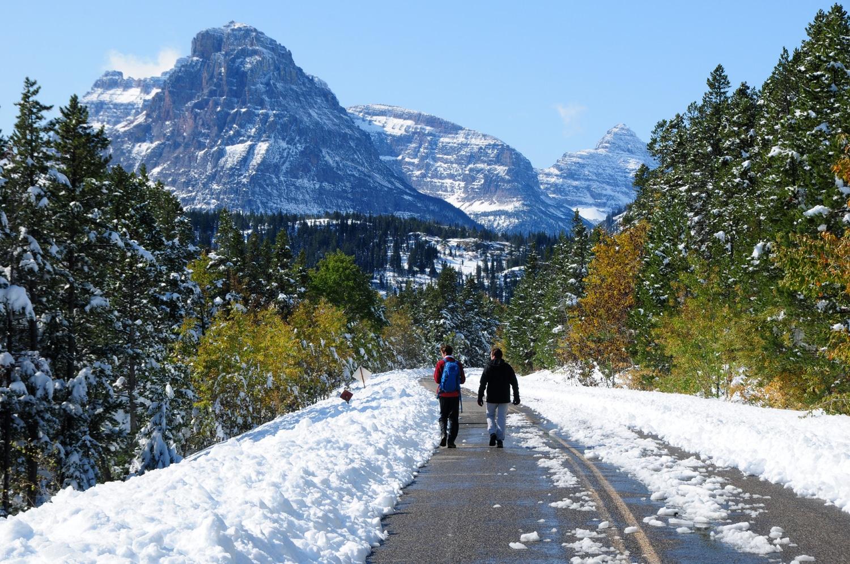 בכביש המוביל לטו מדיסין - פארק גליישר