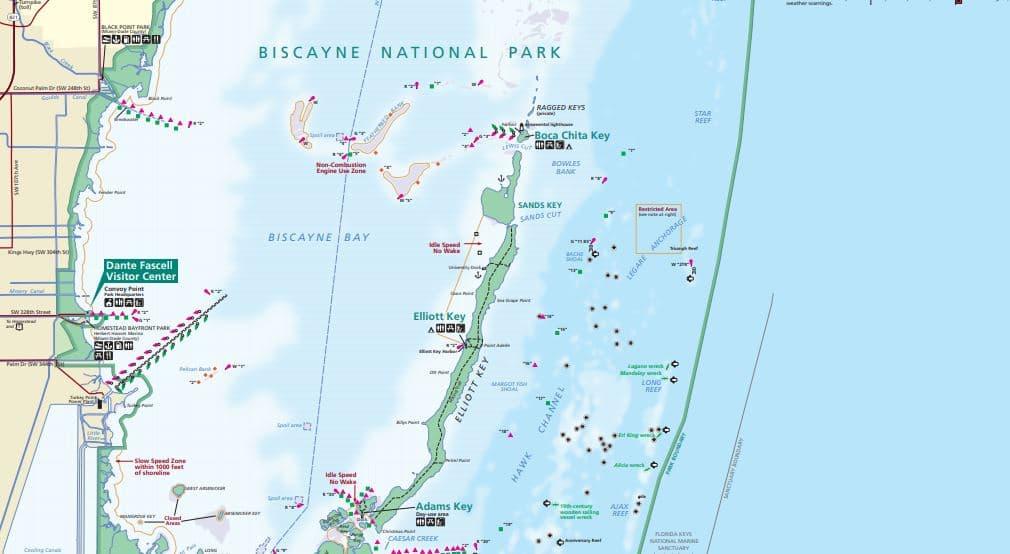 """מפות של הפארקים הלאומיים של ארה""""ב - ביסקאן"""