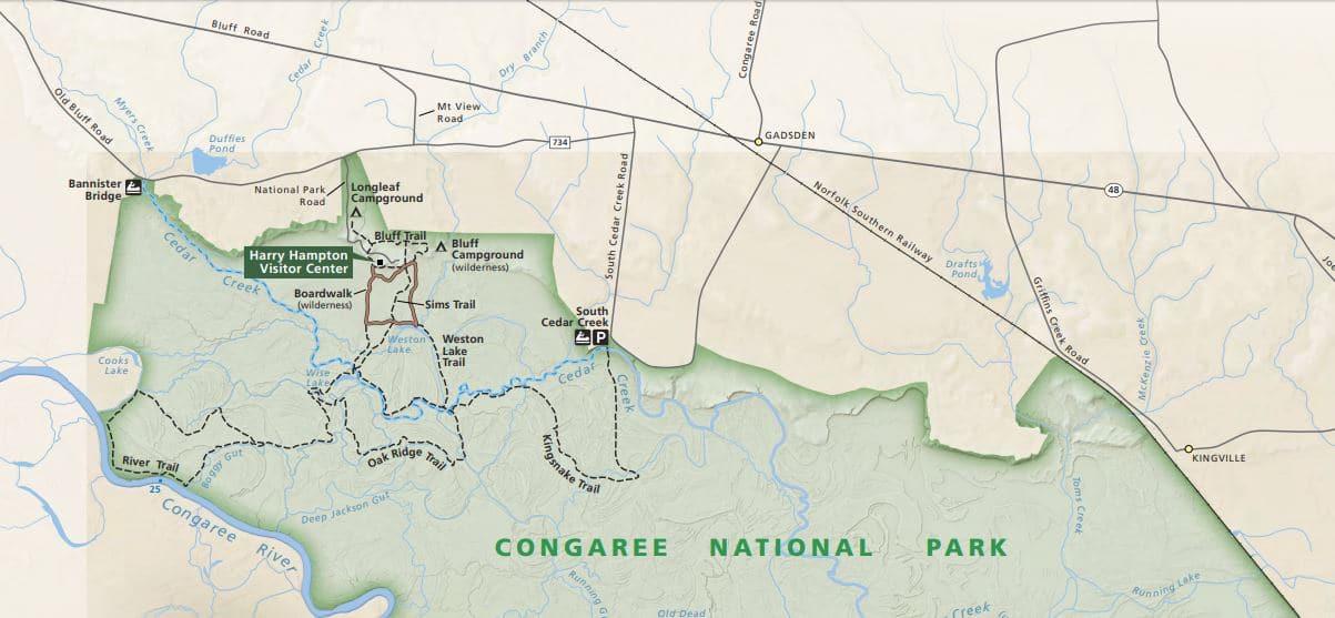 """מפות של הפארקים הלאומיים של ארה""""ב - קונגריי"""